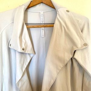 lululemon athletica Jackets & Coats - Lululemon Light Gray Blue Wrap Jacket 10